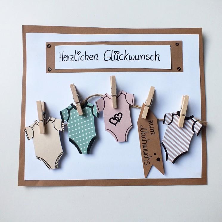 karte zur geburt basteln Mit kreativen Karten Glückwünsche zur Geburt überbringen. Geschenke.de