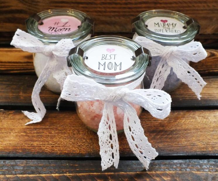 Badesalzgl ser for Muttertagsgeschenke selber basteln