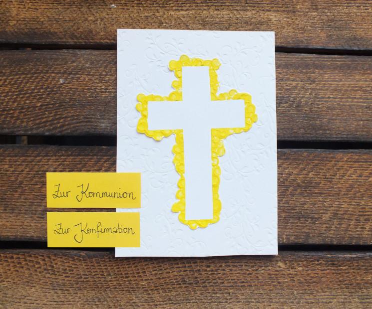 Konfirmationskarten Und Kommunionskarten Wunderschone Bastelideen