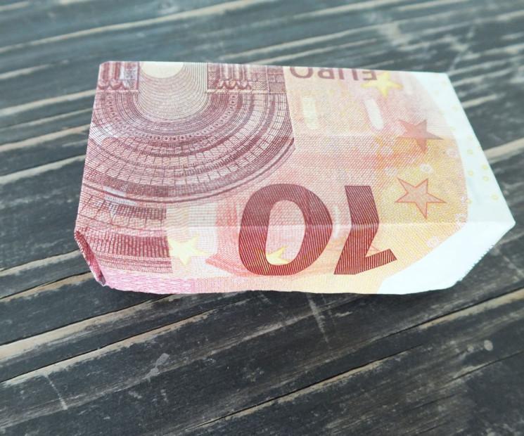 Geldschein Falten Zum Kastchen Anleitung Mit Bildern Auf Geschenke De