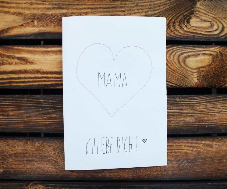 Muttertagskarte mama gestickt for Kartenspiel selbst gestalten
