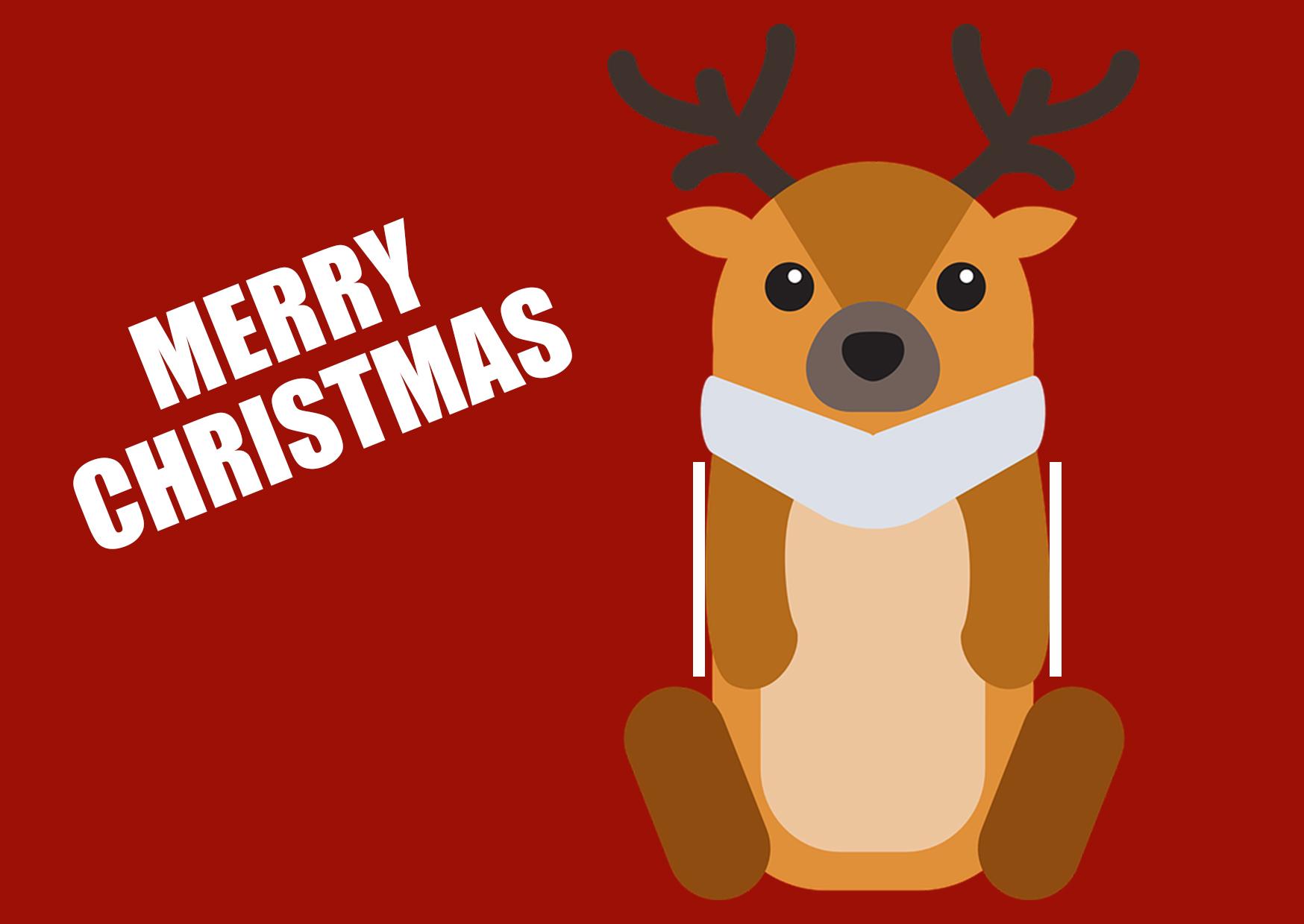 Weihnachtskarte mit Elchmotiv als Geldgeschenk auf Geschenke.de