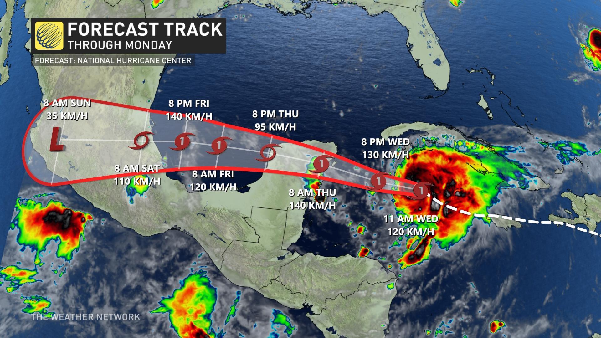 Huracán Grace Track 18 de agosto de 2021 a.m.