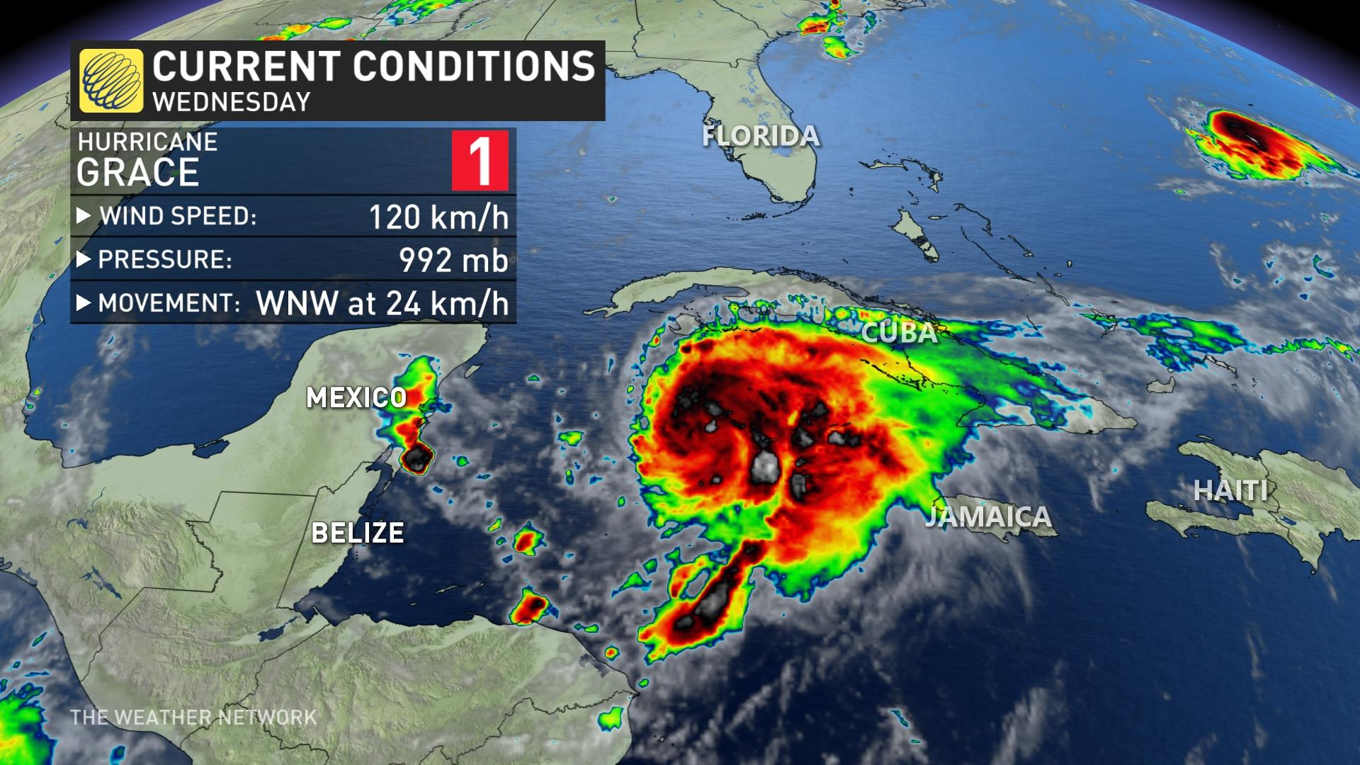 Información sobre el huracán Grace 18 de agosto de 2021 a.m.