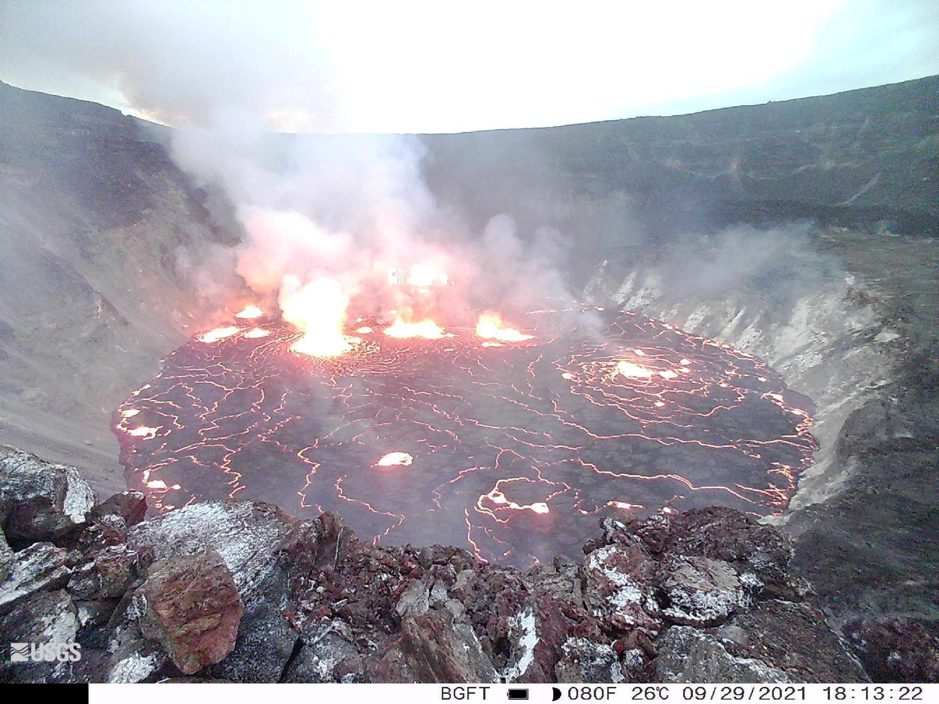 Esplosione di Kilauea 29 settembre 2021
