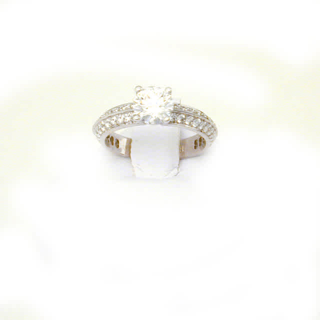 Ring Solitaire w/ G, VVS1 1.02 cts. Round