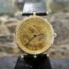18k Corum Coin Watch w/ Diamonds