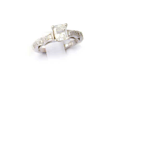 Ring Curvy Solitaire w/ 1.04ct Radiant