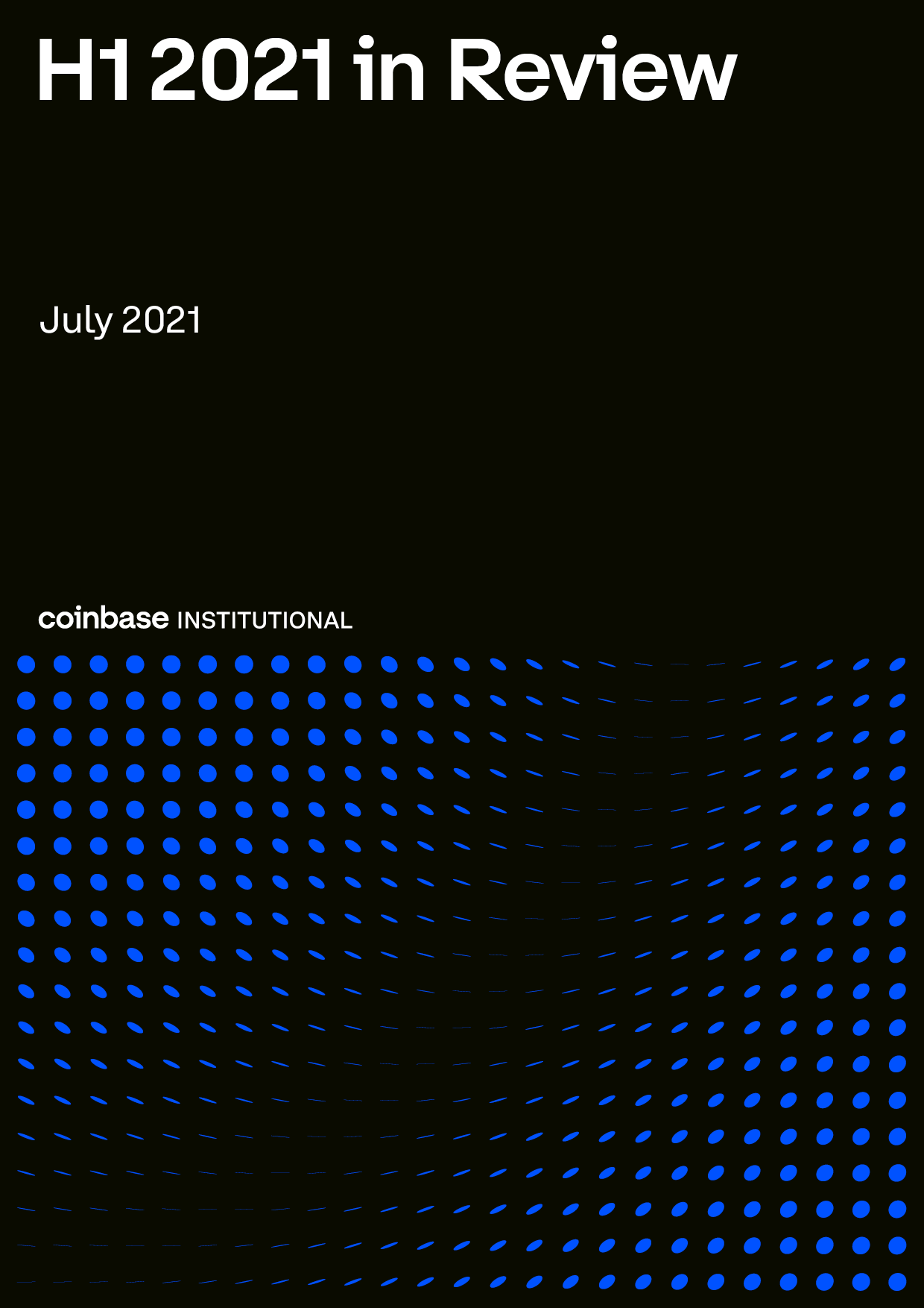 Coinbase Institutional H1 in review cover