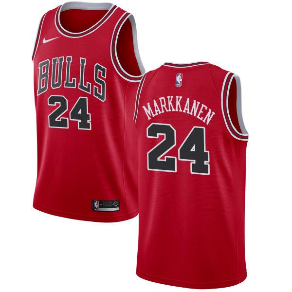 df8e3fd4e Men s Fanatics Branded Lauri Markkanen Red Chicago Bulls Fast Break Replica  Jersey - Icon Edition