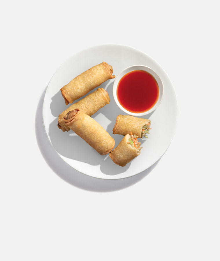 Chicken Vegetable Egg Roll Plated