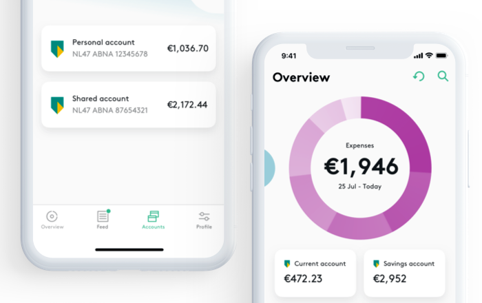 Dutch bank ABN AMRO wanted to give their customers a more holistic mobile banking experience. So they developed Grip in partnership with Tink, using account aggregation to let customers see all their different banks' accounts in one screen.