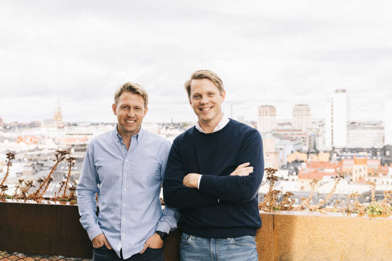 Co-founders Daniel Kjellén (CEO) and Fredrik Hedberg (CTO)