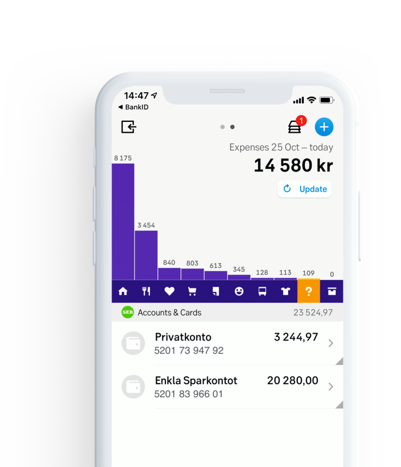 Major Nordic bank SEB developed its own app based on Tink's platform, using data enrichment to categorise and display transactions in a clear format for their customers.   SEB's app is now the most popular channel for private customers in Sweden, with more than 200 million visits every year.
