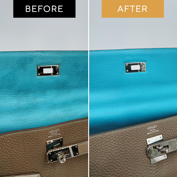 Recolouring Hermes Kelly Brown, Blue - Mould + Recolour