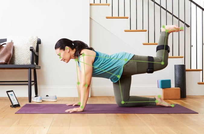 Tracked movements during yoga