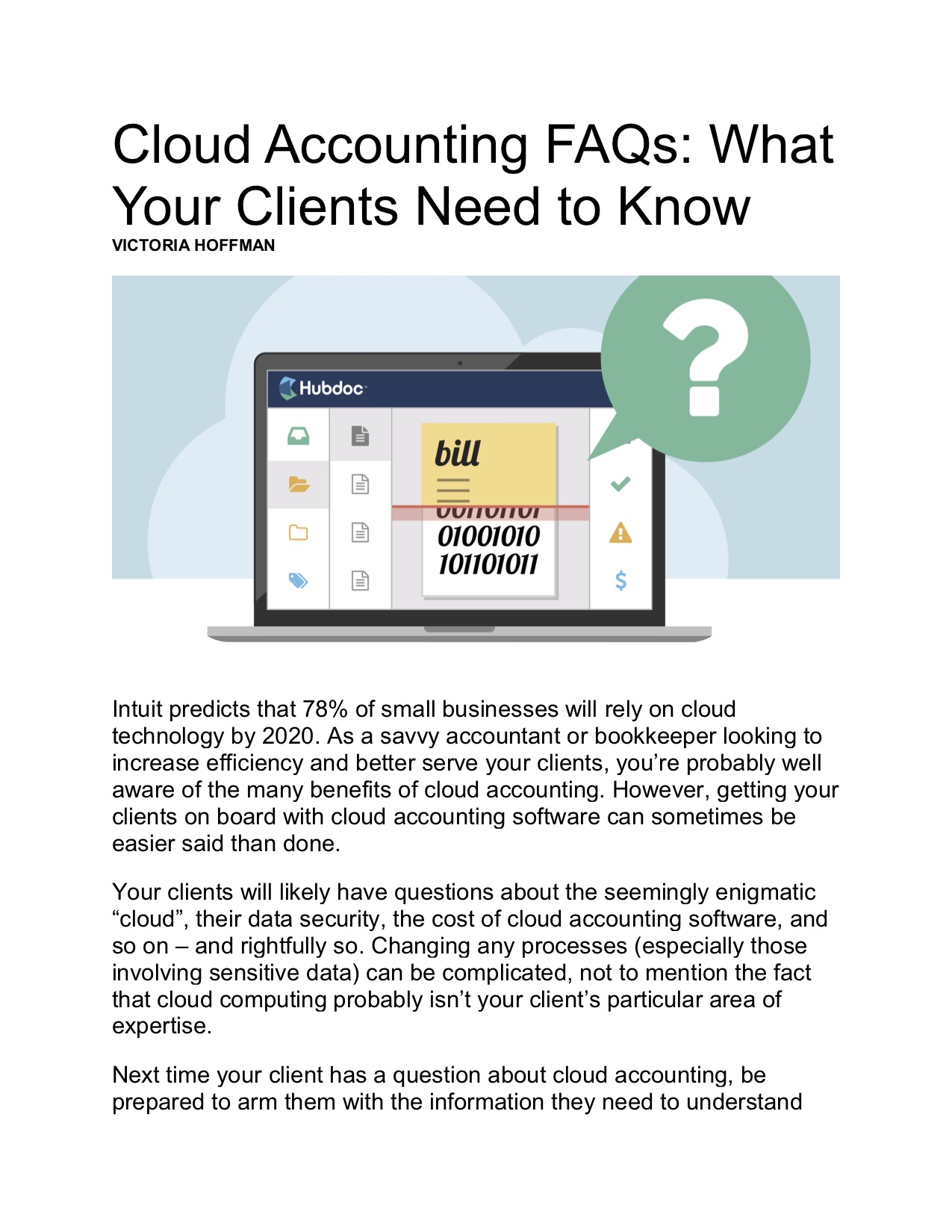 Cloud Accounting FAQs - What Your Clients Need to Know