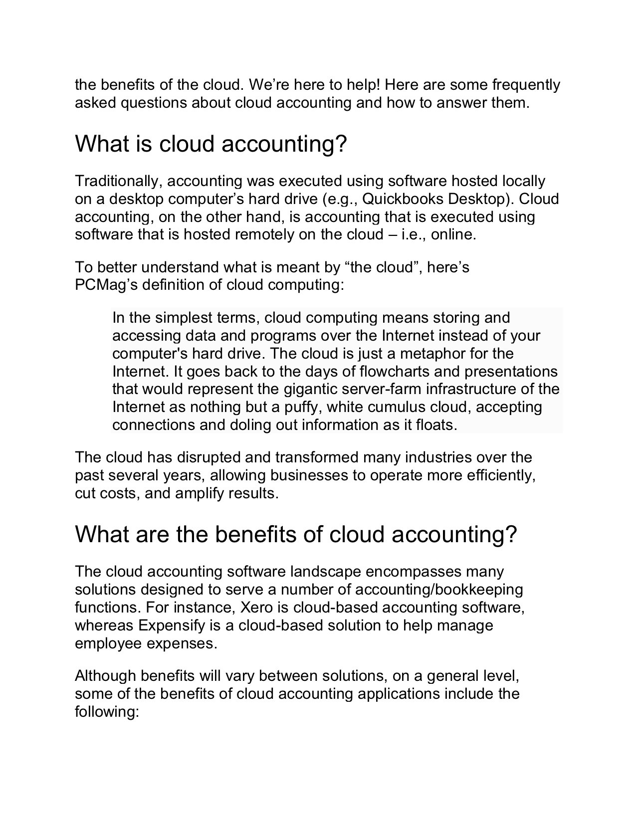 Cloud Accounting FAQs - What Your Clients Need to Know 2