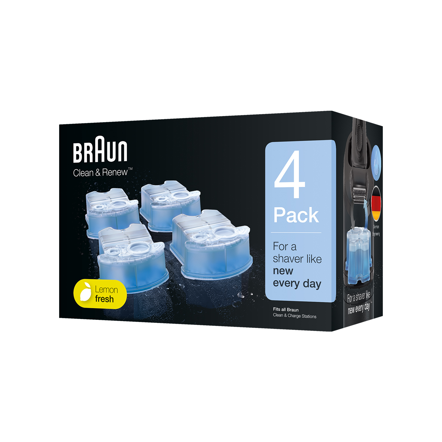 Braun Clean & Renew refill cartridges  CCR - 4 Pack