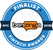 Award Logo - Benzinga Global Fintech 2018