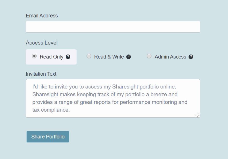 Sharesight - Sharing