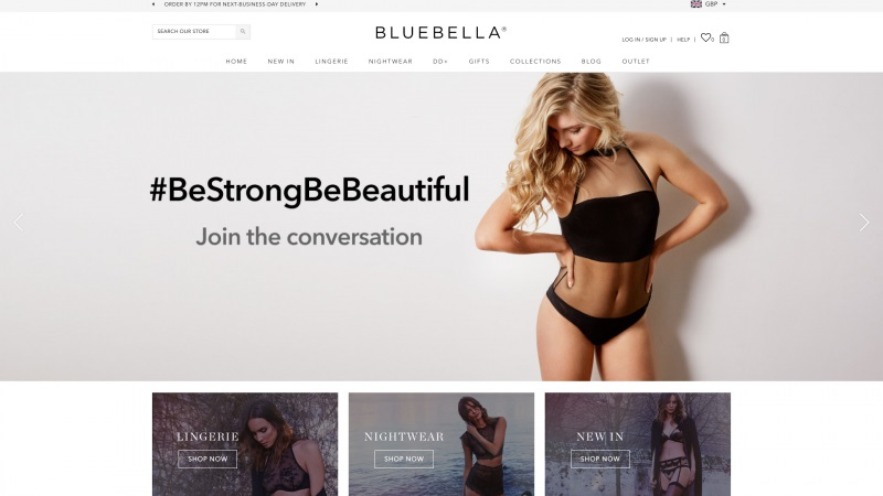 Best Shopify Plus stores Bluebella