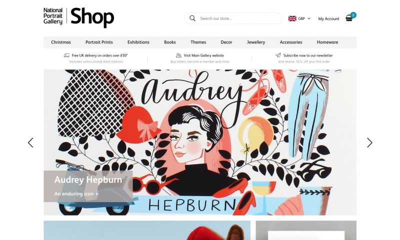 Best Shopify stores National Portrait gallery