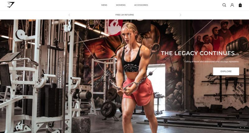 Best Shopify stores Gymshark
