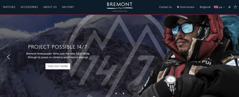 Best Shopify stores Bremont