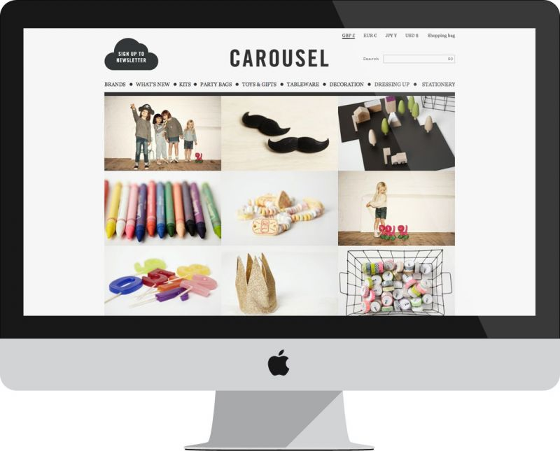 carousel ecommerce website