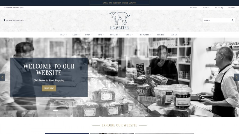 Best Shopify stores HG Walter