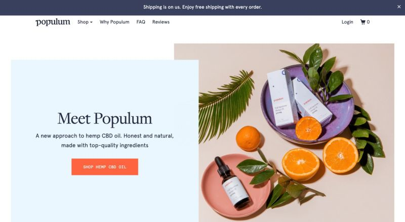 Best Shopify stores Populum
