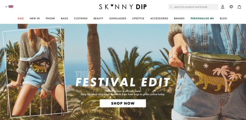 Best Shopify Plus stores Skinnydip