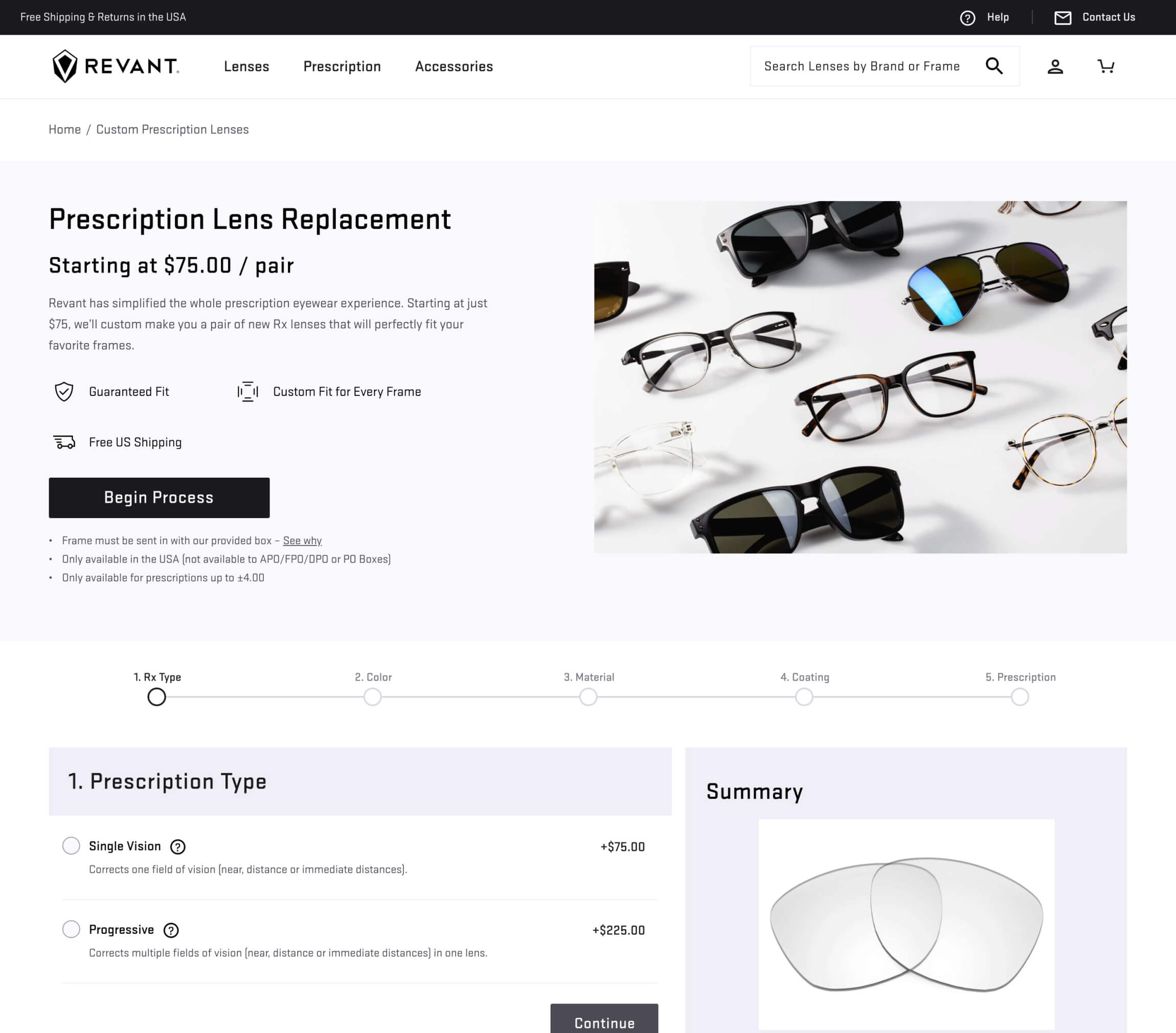 Revant Optics Shopify Store