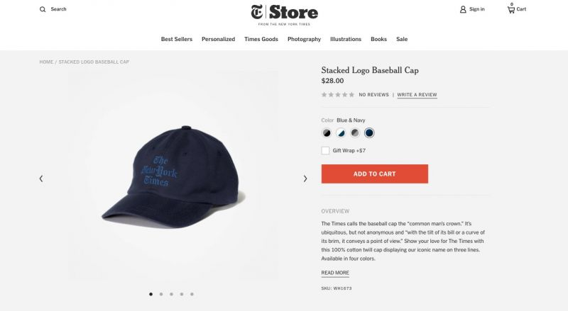 Best Shopify stores New York Times