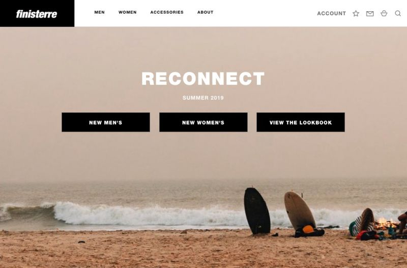 Best Shopify Plus stores Finisterre