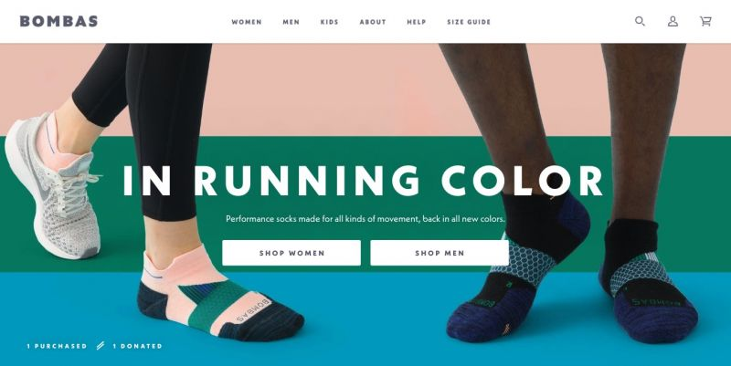Best Shopify stores Bombas