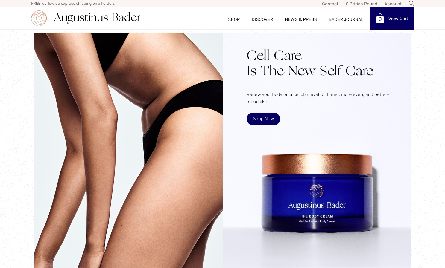 Headless e-commerce build Augustinus Bader Augustinus Bader Official Site for Award Winning Skincare