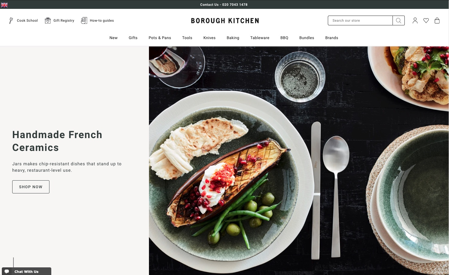 Borough Kitchen's Shopify Plus Store