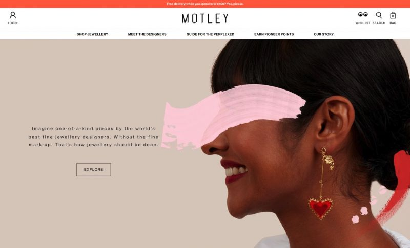 Best Shopify stores Motley