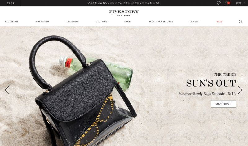 Best Shopify stores Fivestory