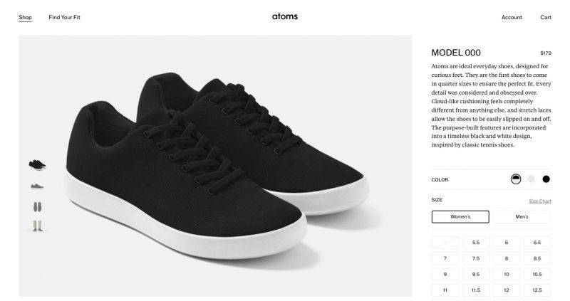 Best Shopify stores Atoms