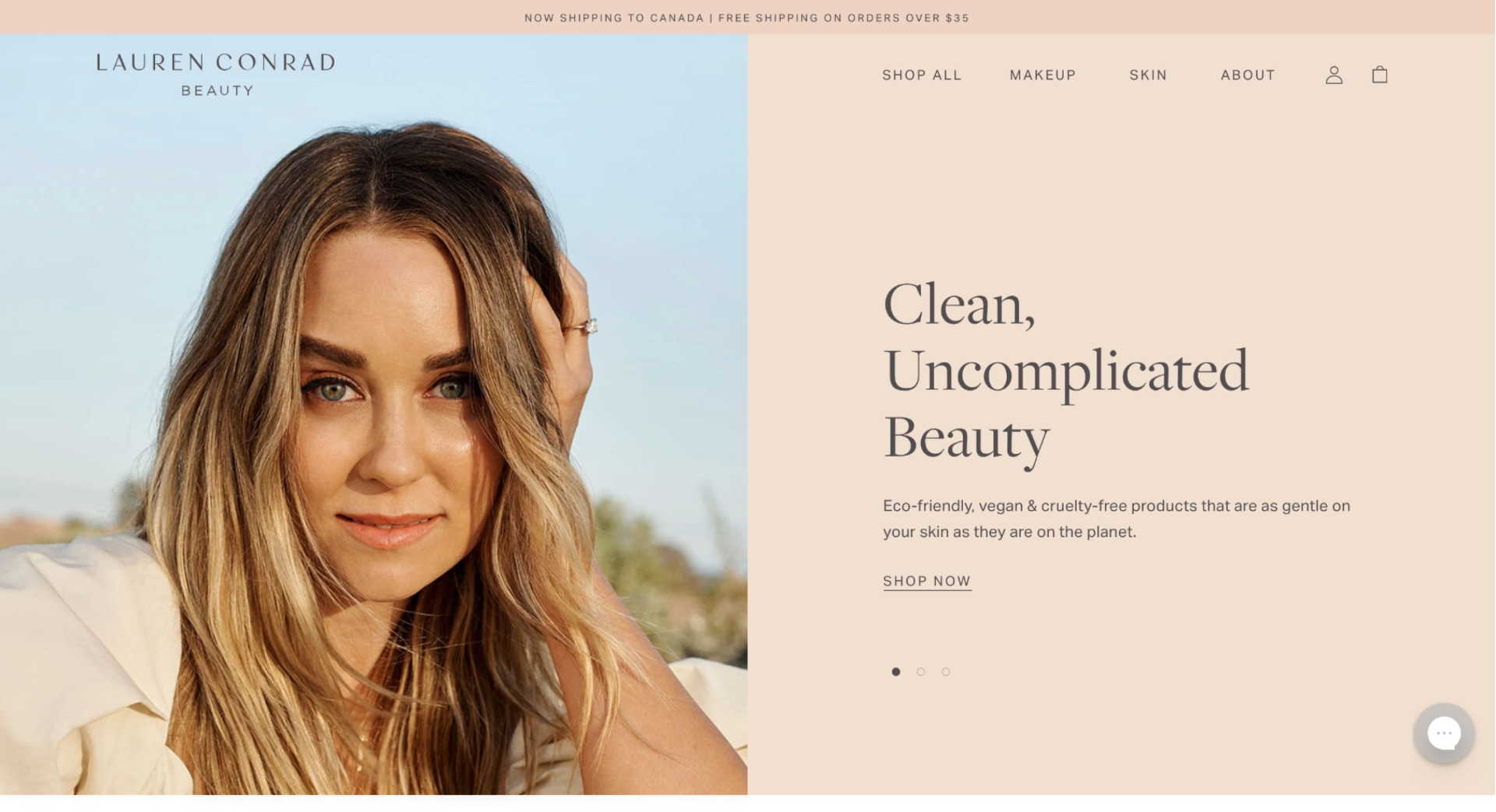 Lauren Conrad Beauty header
