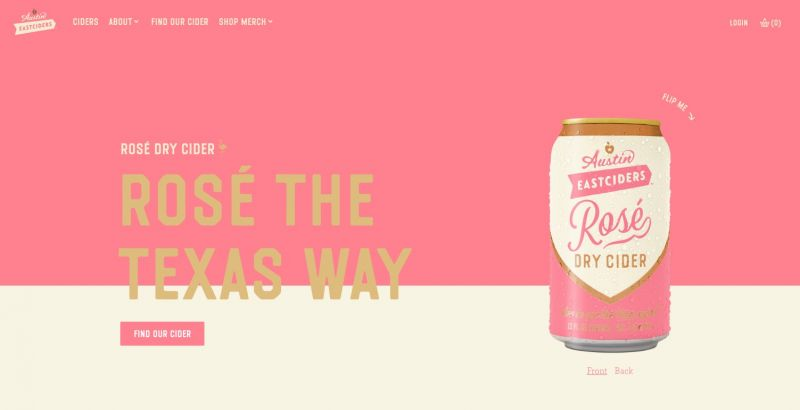 Best drinks brands on Shopify Austin East Ciders
