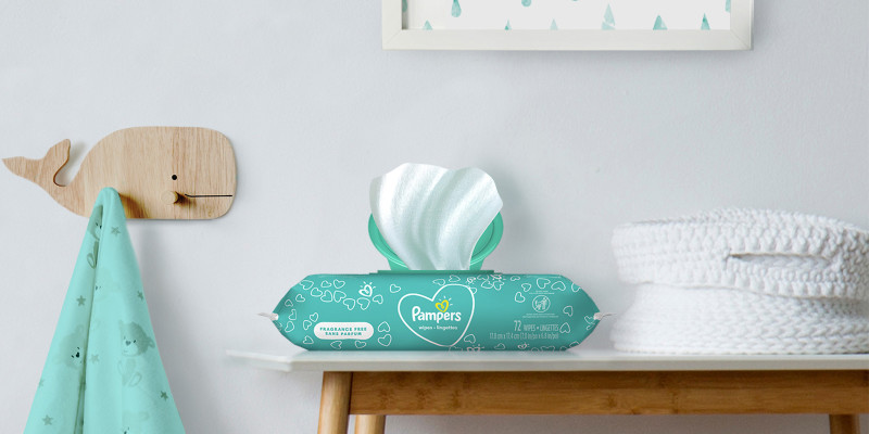 Pampers® Fragrance Free Wipes