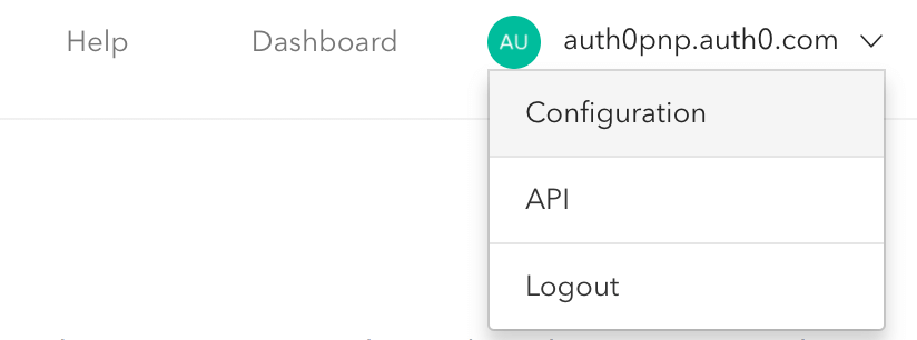 Dashboard - Extensions - Authorization Extension - Navigate to Configuration
