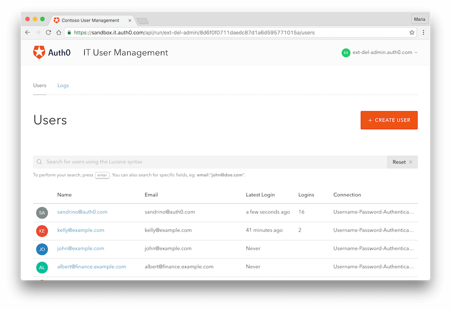 Extensions - Delegated Admin - Standard dashboard