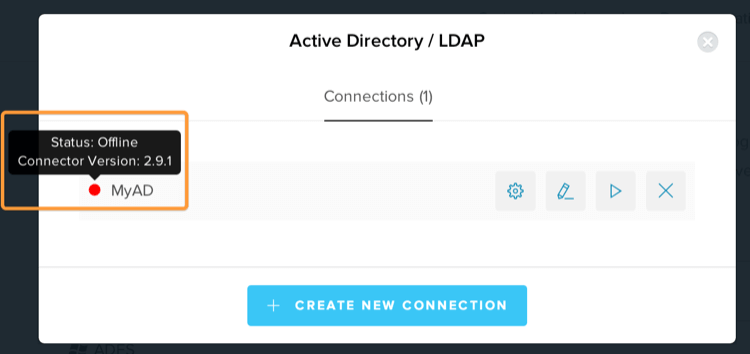 Troubleshoot AD/LDAP Connector Console Screen