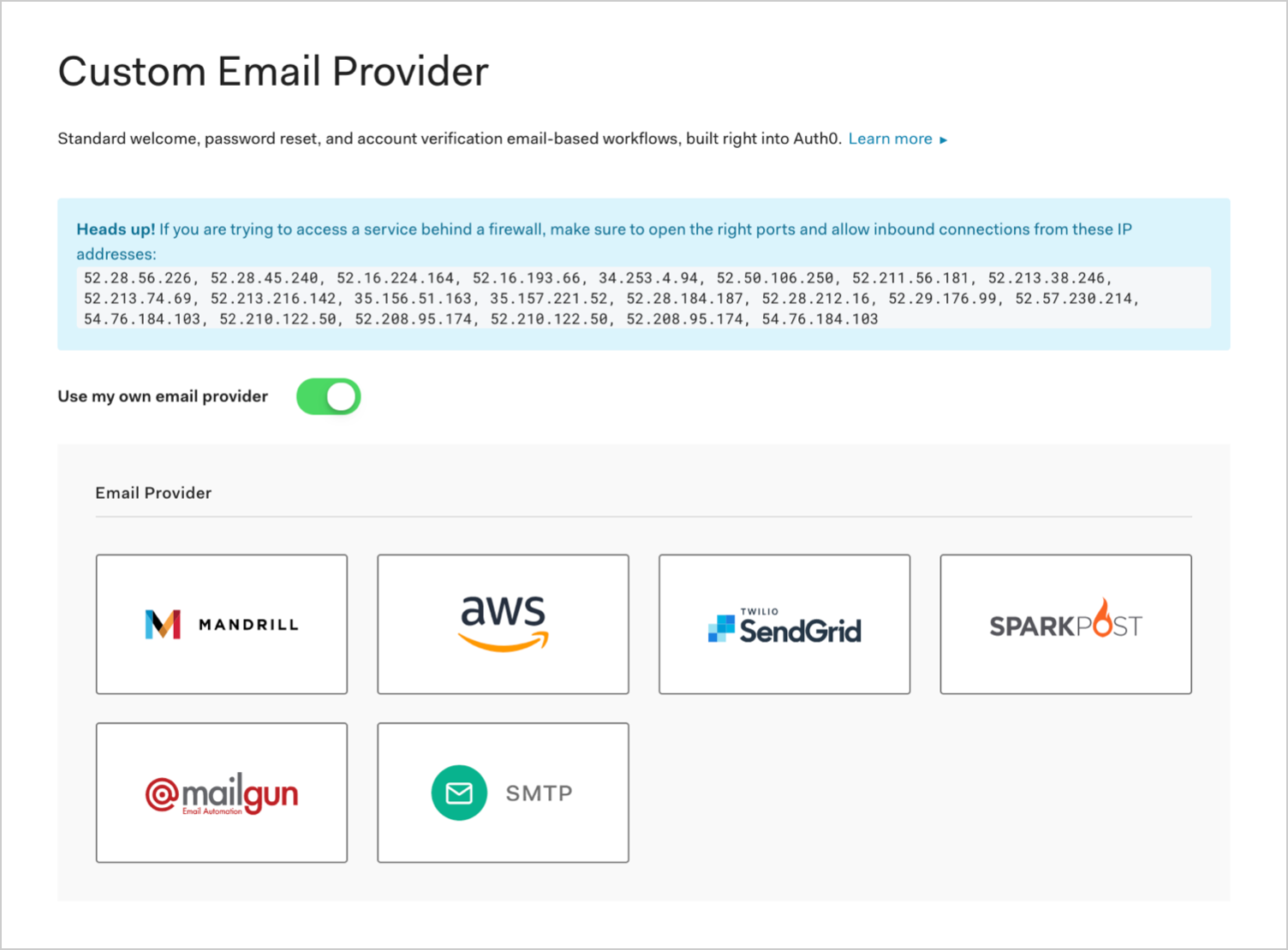 Auth0 Branding Email Provider External SMTP