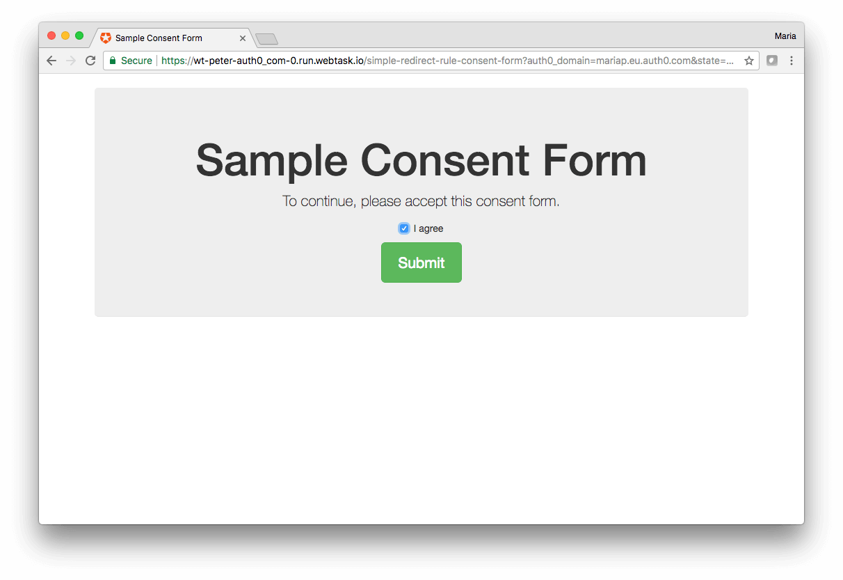 Application Sign Up Widget Lock Consent Form Agree